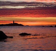 """Rhoscolyn - sunset"" by Raymond Kerr"
