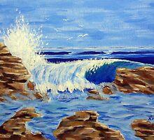 Crashing Waves by Lawrence Nadeau by CoastalCarolina