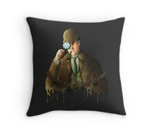 "Sherlock Holmes ""it's Elementary"" Throw Pillow"