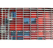 building with solar blinds Photographic Print
