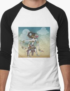 Modification of the puppet characters Hanuman white monkey in the story of the Ramayana Men's Baseball ¾ T-Shirt