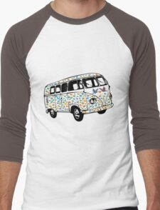 Summer of Love Campervan T-Shirt Men's Baseball ¾ T-Shirt