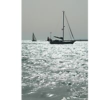 BW Boat Photographic Print