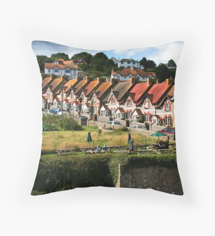 Fishermans Cottages Throw Pillow