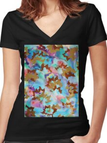 The Garden of Mysteries. Women's Fitted V-Neck T-Shirt