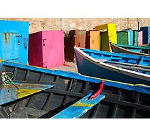 Vintage fishing boats in Essaouira, Morocco Photographic Print