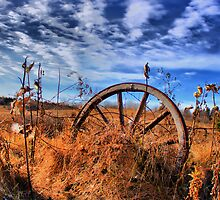 HDR Abandoned Wagon Wheel by SeRVE