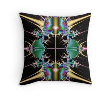 Cyborg connection Throw Pillow