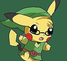 Pikachu Link! by FluffyKami