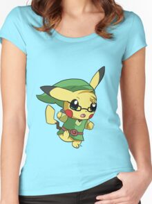 Pikachu Link! Women's Fitted Scoop T-Shirt