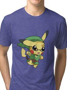 Pikachu Link! Tri-blend T-Shirt