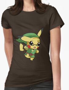 Pikachu Link! Womens Fitted T-Shirt
