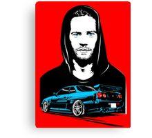 GTR x Paul Walker Canvas Print