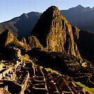 Sunrise at Machu Picchu in Peru by pdgoodman