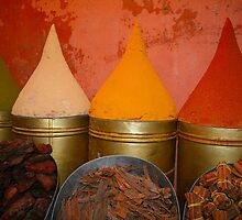 Spices shop in the medina of Marrakesh, Morocco by Atanas Bozhikov NASKO