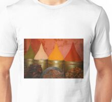 Spices shop in the medina of Marrakesh, Morocco Unisex T-Shirt