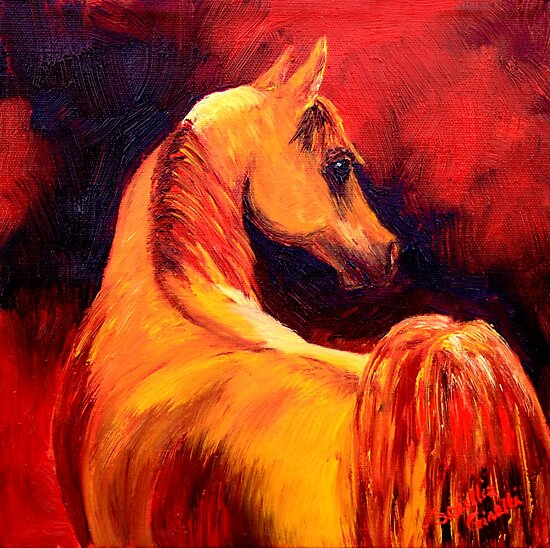 Arab Horse in Profile by sesillie