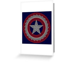 Celtic Captain America Black outline with red/white fill Greeting Card
