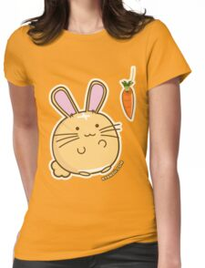 Fuzzballs Bunny Carrot Tease Womens Fitted T-Shirt