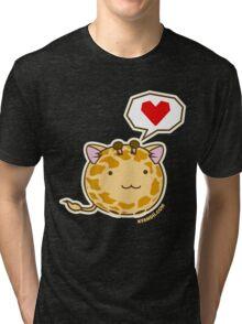 Fuzzballs Giraffe Tri-blend T-Shirt