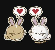 Fuzzballs Bunny Love Baby Tee