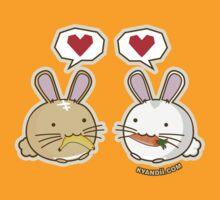 Fuzzballs Bunny Food Love by rabbitbunnies