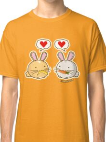 Fuzzballs Bunny Food Love Classic T-Shirt