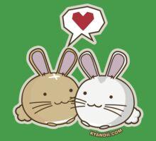 Fuzzballs Bunny Cuddles Kids Tee