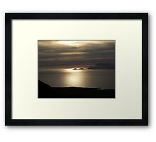 Achill Island as seen from Croagh Patrick Framed Print