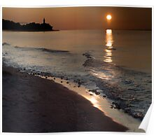 The South Manitou Lighthouse at Sunrise Poster