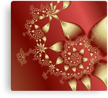 Satin and Gold Canvas Print