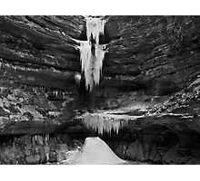 Ice and Stone Photographic Print