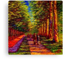 Shady Path in Keukenhof Canvas Print