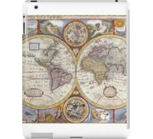Antique Map of the World & Heavens iPad Case/Skin