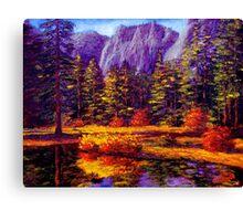 Autumn on the Yosemite River Canvas Print