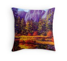 Autumn on the Yosemite River Throw Pillow