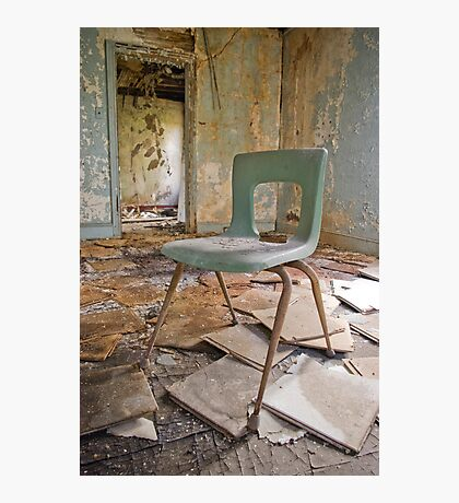 Old Blue Chair Photographic Print