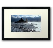 Island on Superior shore drive at Rossport Ontario Canada Framed Print
