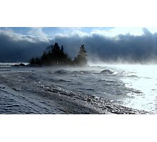 Island on Superior shore drive at Rossport Ontario Canada Photographic Print