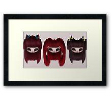 Little Scary Dolls Framed Print