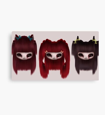 Little Scary Dolls Canvas Print