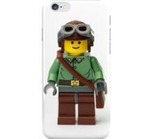 Green Ranger Minifig with goggles iPhone Case/Skin