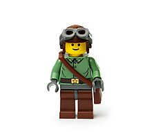 Green Ranger Minifig with goggles Photographic Print