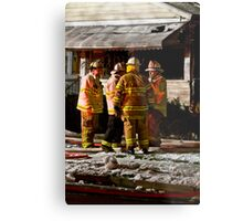 Fireman meeting Metal Print