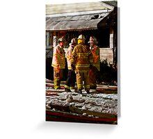 Fireman meeting Greeting Card