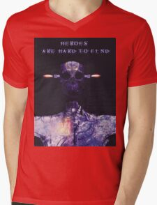 Heroes are hard to find Mens V-Neck T-Shirt