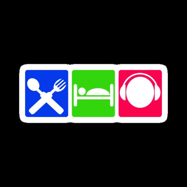EAT SLEEP LISTEN do something symbol by SofiaYoushi