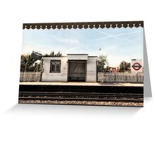East Acton Tube Station Greeting Card