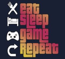 Eat Sleep Game Repeat  Kids Clothes