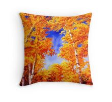 Sky View From the Aspen Forest Throw Pillow